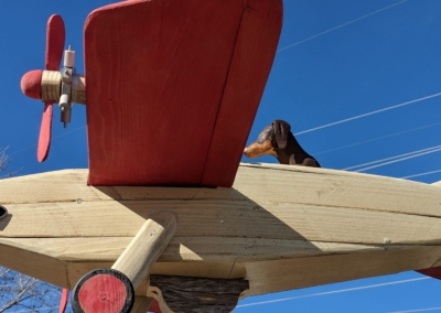 Wood plane sculpture - Irving Village Albuquerque