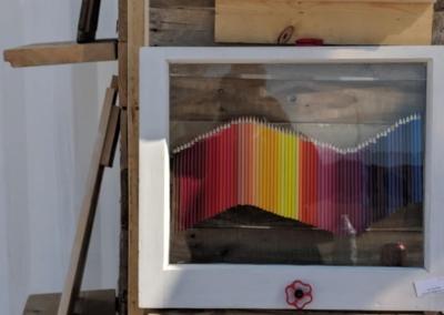 Colorful pencil art - Irving Village Albuquerque
