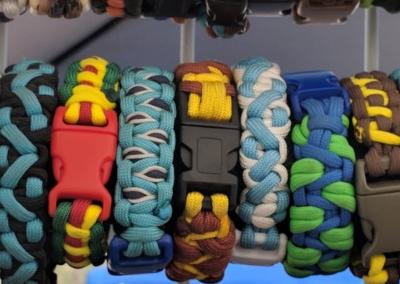 Colorful braided bracelets - Irving Village Albuquerque