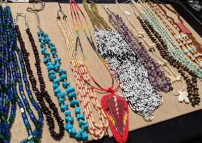 Colorful stone necklaces - Irving Village Albuquerque