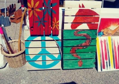 Acrylic art on wood - Irving Village Albuquerque